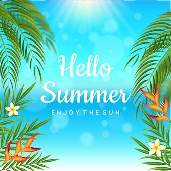 Concept d'été bonjour réaliste