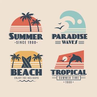 Concept d'étiquettes d'été vintage