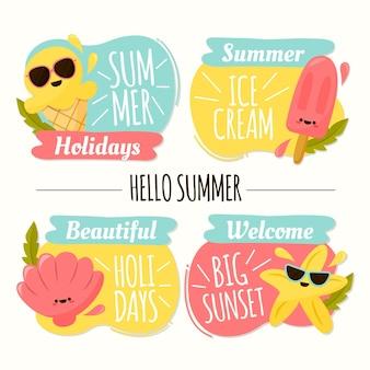 Concept d'étiquettes d'été