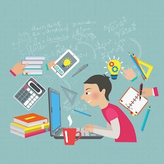 Concept d'étudiant en mathématiques