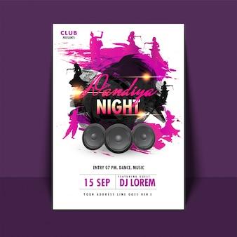 Concept d'événement dandiya night.