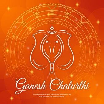 Concept d'événement ganesh chaturthi