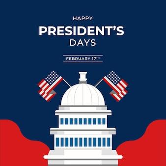 Concept d'événement de la journée des présidents plats