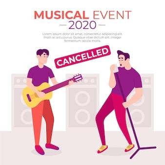 Concept d'événements musicaux annulés