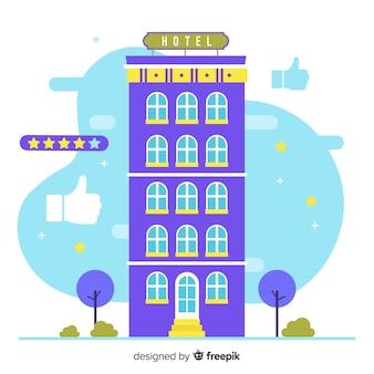 Concept d'examen d'immeuble hôtelier