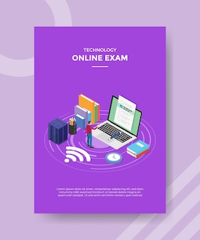 Concept d'examen en ligne