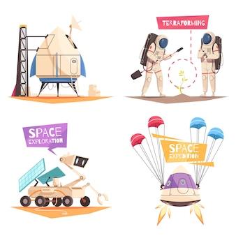 Concept d'expédition spatiale
