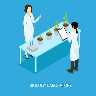 Concept d'expérience scientifique biologique isométrique