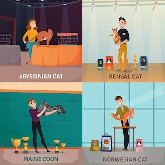 Concept d'exposition de chat