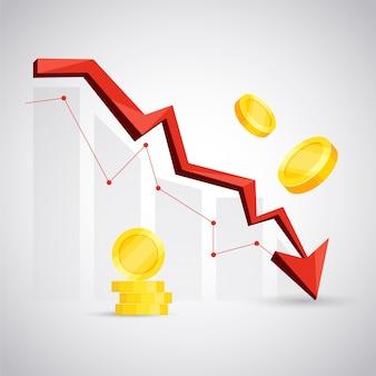 Concept de faillite avec flèche