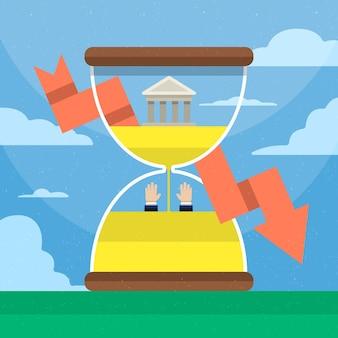 Concept de faillite plat