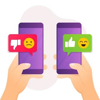 Concept de feedback et d'examen pour la satisfaction du client