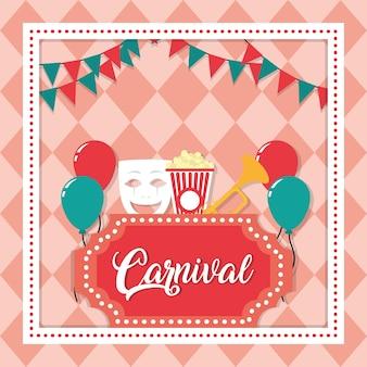 Concept de festival de carnaval
