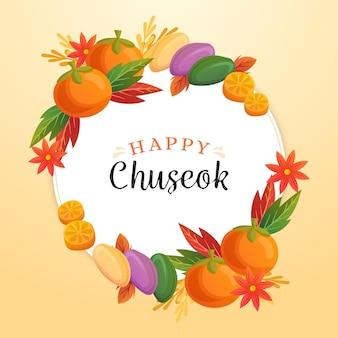 Concept de festival chuseok dessiné à la main