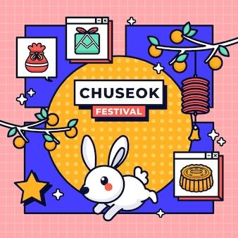 Concept de festival de chuseok