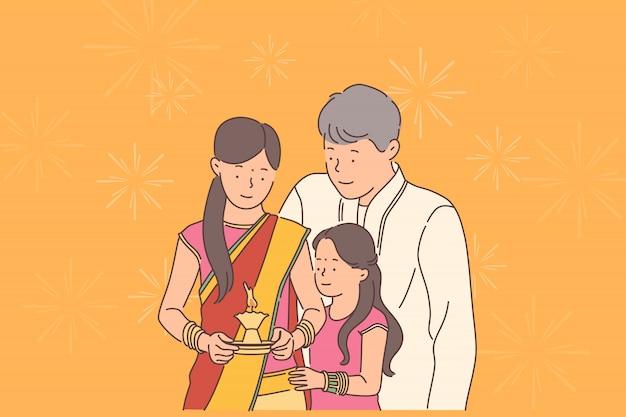 Concept de festival de diwali ou deepawali.