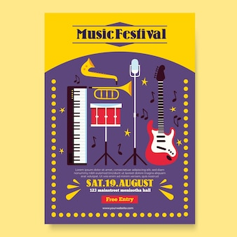 Concept de festival de musique