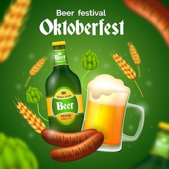Concept de festival oktoberfest réaliste