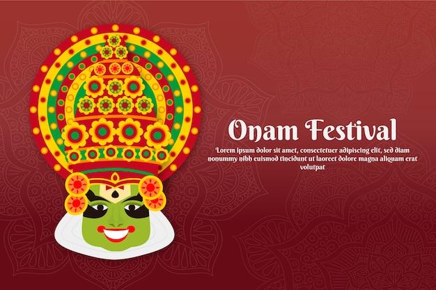 Concept de festival onam plat