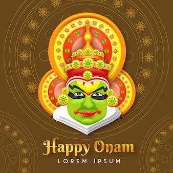 Concept de festival onam réaliste