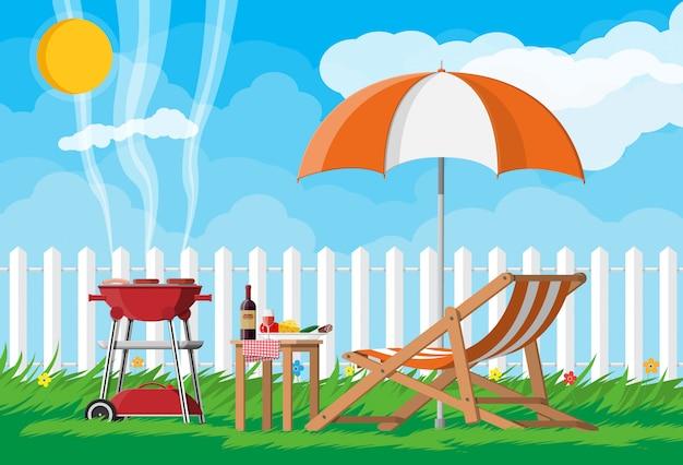 Concept de fête barbecue