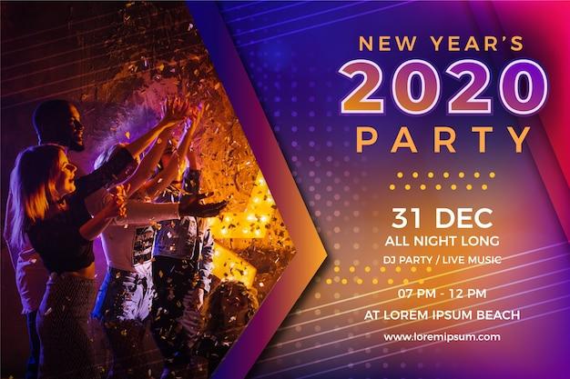 Concept de fête coloré pour le nouvel an