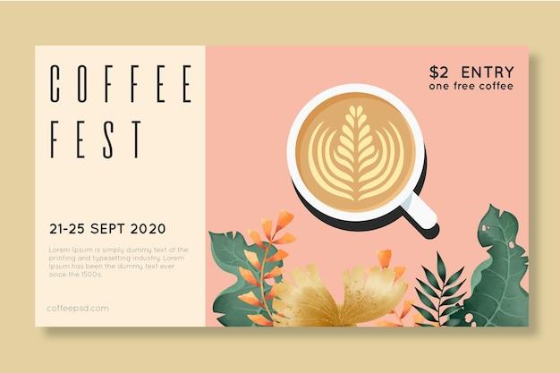 Concept de fête du café