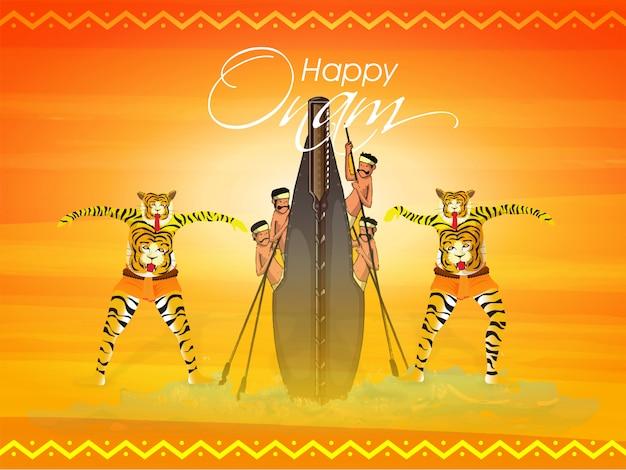 Concept de fête du festival onam.