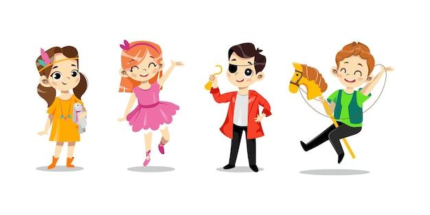 Concept de fête d'enfants animée.