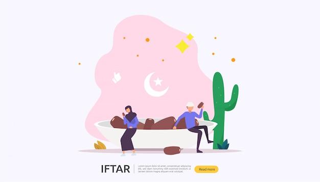 Concept de fête iftar manger après le jeûne