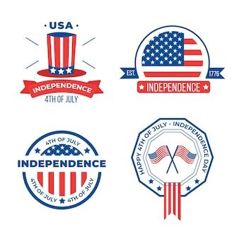 Concept de fête de l'indépendance design plat