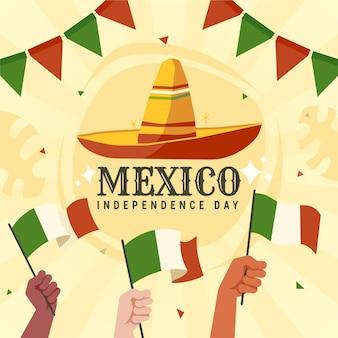 Concept de la fête de l'indépendance du mexique