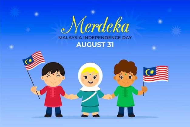 Concept de la fête de l'indépendance de la malaisie