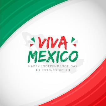 Concept de fête de l'indépendance mexicaine design plat