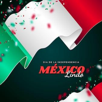 Concept de fête de l'indépendance mexicaine réaliste