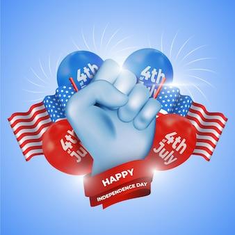 Concept de fête de l'indépendance réaliste