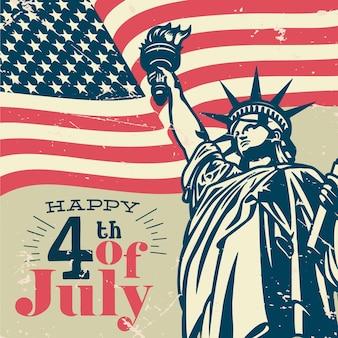Concept de fête de l'indépendance rétro