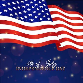 Concept de fête de l'indépendance usa réaliste
