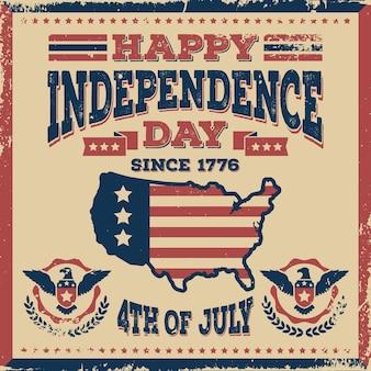 Concept de fête de l'indépendance vintage