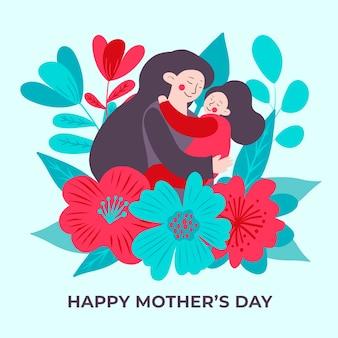 Concept de fête des mères dessiné à la main