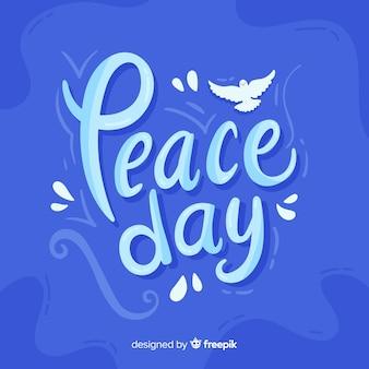 Concept de fête de la paix avec lettrage