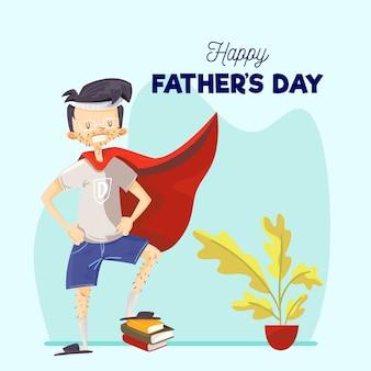 Concept de fête des pères dessinés à la main