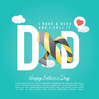 Concept de fête des pères heureux de cravate
