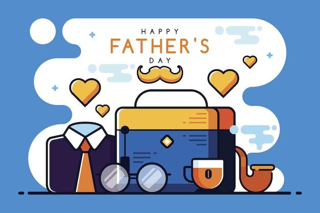 Concept de fête des pères plat