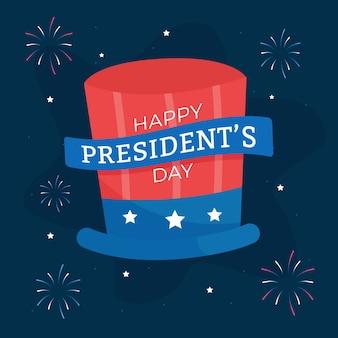 Concept de feux d'artifice pour la journée des présidents