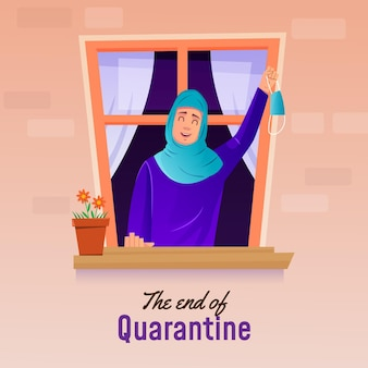 Concept de fin de quarantaine