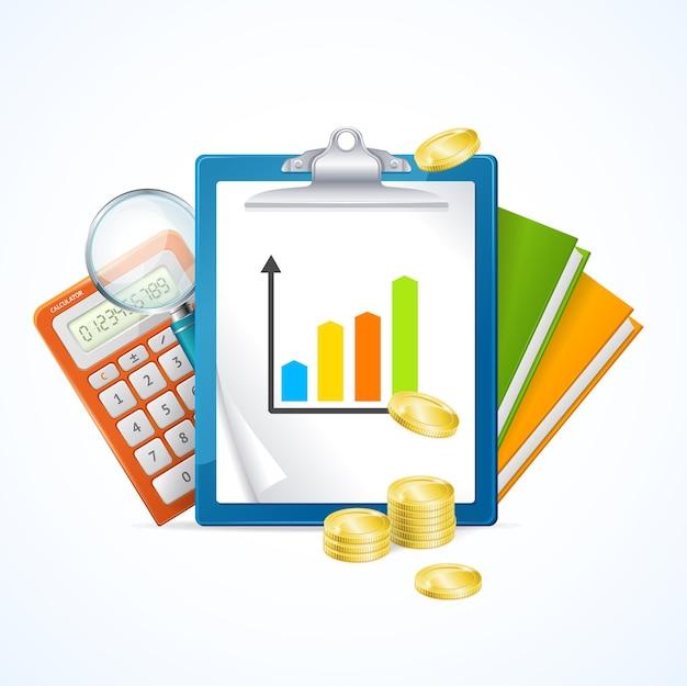 Concept de finance d'entreprise. bénéfice comptable.