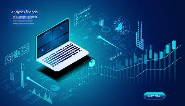 Concept financier d'analyse abstraite analyse des stocks pour l'investissement, la finance,