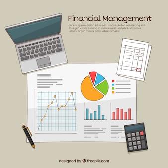 Concept financier classique avec style dessiné à la main
