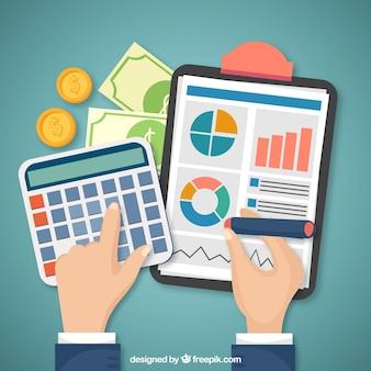 Concept financier avec éléments classiques